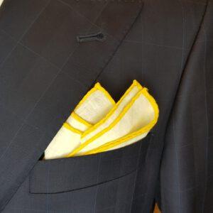 Leineneinstecktuch Gelb Einstecktuch Pochette