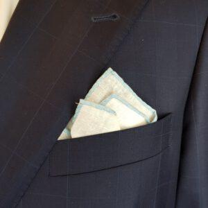 Leineneinstecktuch-Einstecktuch-Leinen-Pochette-Hellblau