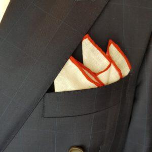 Leineneinstecktuch-Einstecktuch-Leinen-Rot-Pochette