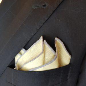 Leineneinstecktuch Einstecktuch flieder Pochette Leinen