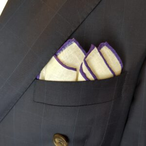 Leineneinstecktuch lila Einstecktuch Pochette Leinen