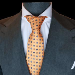 Orange Krawatte mit Floralmuster