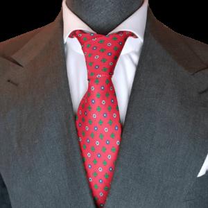 Rote Krawatte mit Floralmuster